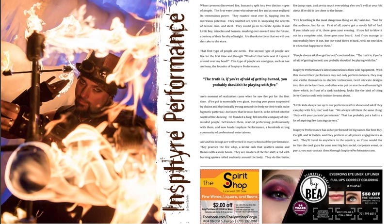 Shop Dine Live Magazine Features Insphyre Performance